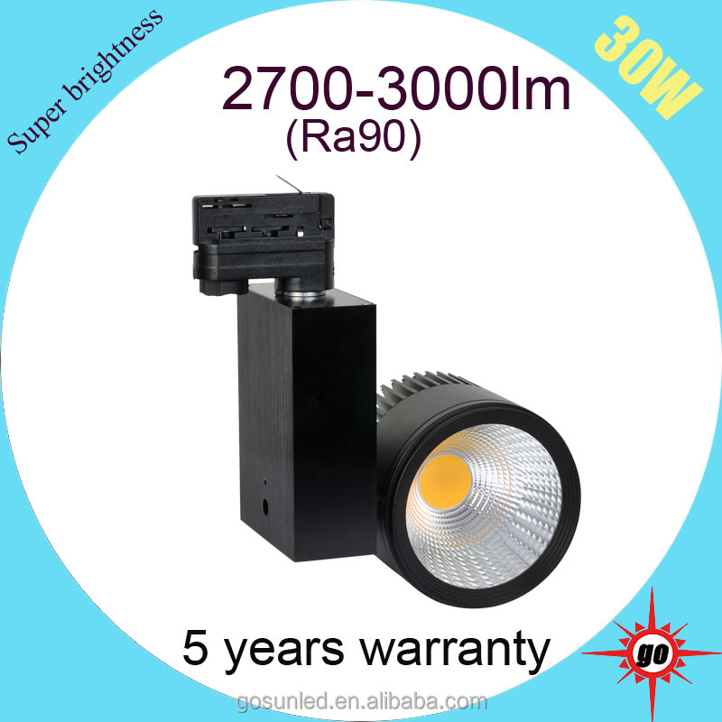 new led product rail 2/3/4wires head 3700lm Ra90 30W led track light