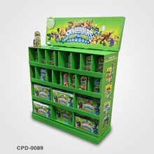 Retail Store Green Corrugated Toy Display with 4 Shelves
