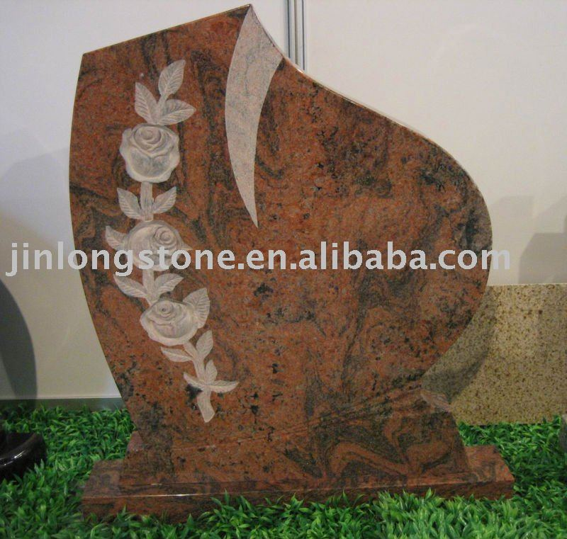 Chinese Red Granite Monument European Style