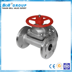 DN100 CF8M Flange type rubber diaphragm for valve
