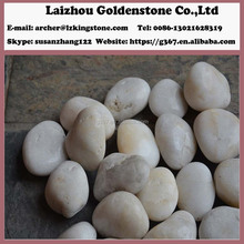 Hot sale natural natural pebble mosaic snow white round pebble stone