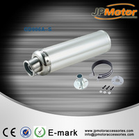 factory price ,white concise motorcycle exhaust pipe muffler from chinese manufacturer