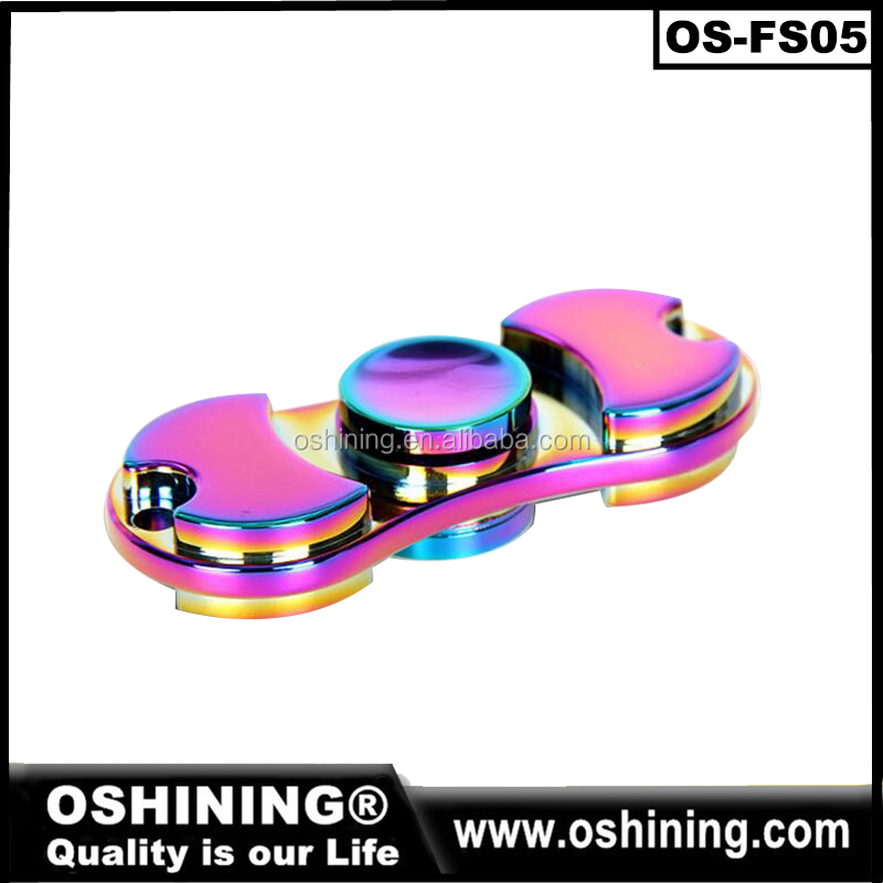 2017 Zic alloy nano plating Infinity Spinner Rainbow colorful Fidget Finger Tip Style EDC Metal Spinner for Cure Hyperactivity