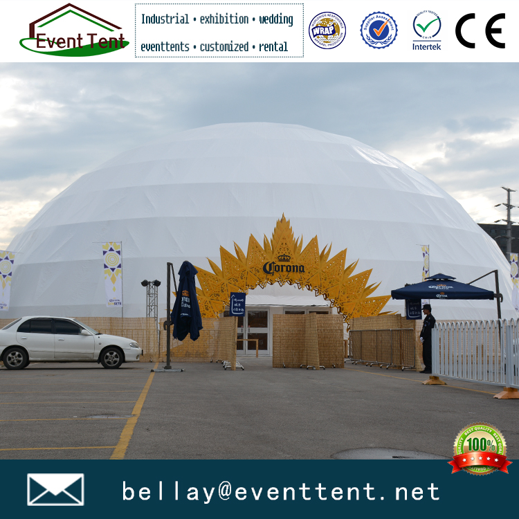 Beautiful white wedding tent for sale, geodesic dome tent carpas domo