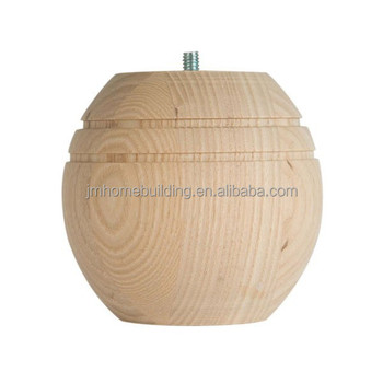 Wooden bun foot for furniture with competitive price