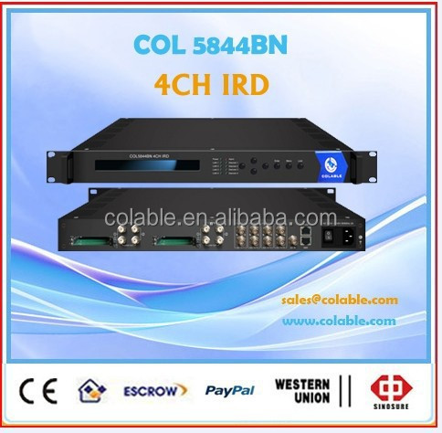 4 channel satellite tv decoder,digital headend sd ird with CAM/slotsCOL5844BN