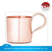 Latest arrival simple design hammered copper mugs in many style