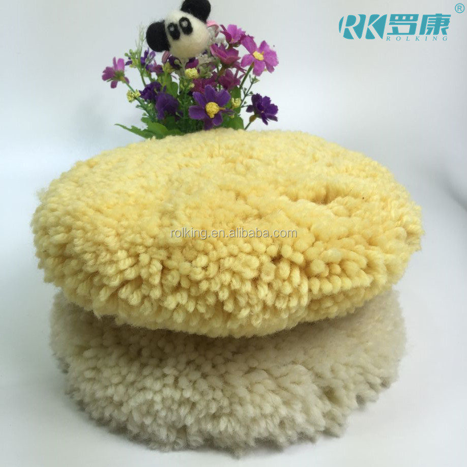 100% Wool Compounding Pad car wax /finishing /polishing pads