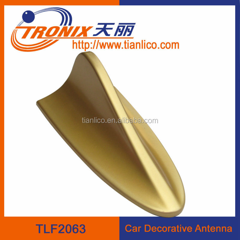 dummy golden decoration car / vehicle shark fin antenna and air aerial