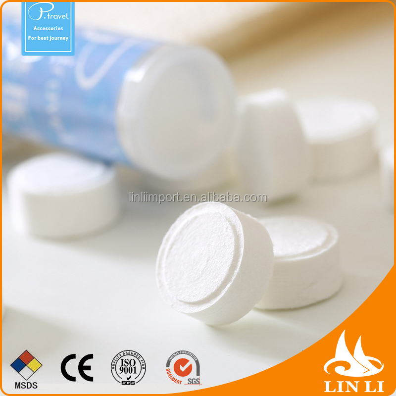 Wholesale custom mini tablet coin tissue pill disposable compressed towels magic towel