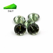 5mm Round shape diamond cut light green 149# synthetic spinel loose gems
