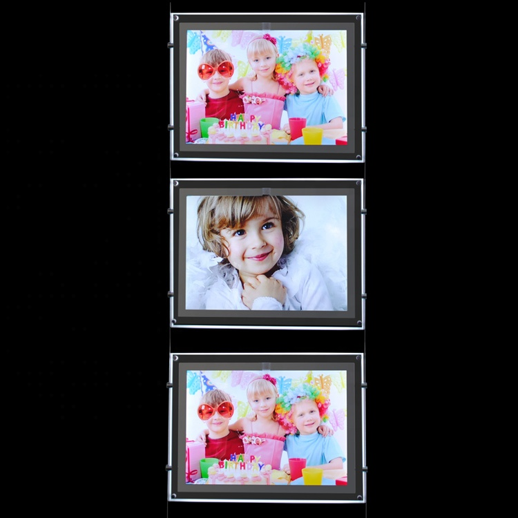 light up picture <strong>frame</strong>, lighted plastic <strong>advertising</strong> signs, <strong>led</strong> acrylic frameless picture holder