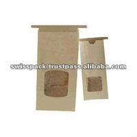 Kraft paper packaging bags with tin tie suppliers