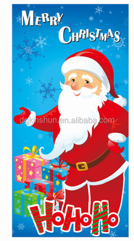 30 x 60 In Cute Christmas Santa Celebration Supply Plastic Posters Decorative Plastic Door Covers