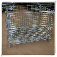 Galvanized folded storage cage