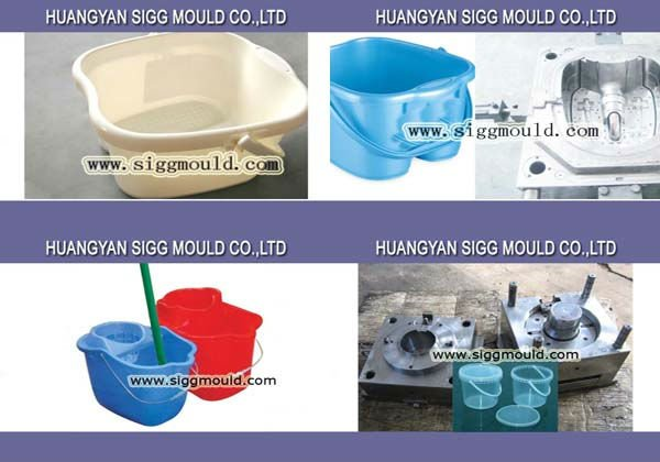 Custom plastic injection bucket mould spin mop product molding