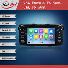 HuiFei Virtual Disc HD 1080P support 3G WiFi iPhone New Interface for Toyota Hilux Car GPS Navigation System