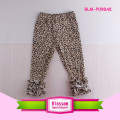Hot Icing Cotton Ruffle Pants Fall Chic Baby Leggings Wholesale Triple Ruffle Legging Leopard Icing Cotton Baby Ruffle Pants