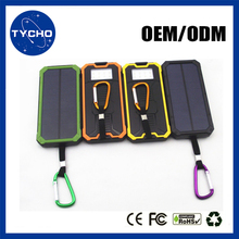 Portable Outdoor USB Solar Power Bank Mini LED 10000mAh External Battery Waterproof Mobile Charger Solar Power Bank