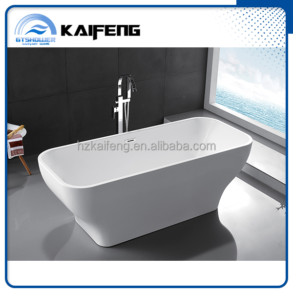 White Color Fancy Narrow Bathtub for Canadian