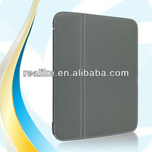 Two fold stand leather case for galaxy tab 3 10.1,perfect technology by sinatech
