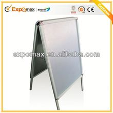 32mm aluminum A1 waterproof waterbase free stand corrugated plastic poster board