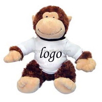 15inch Fluffy Brown Monkey In Orange Short T-shirt Plush Toys ...