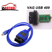 Vag 409 VAG-COM 409.1 Vag Com 409.1 KKL OBD 2 USB VAG409.1 Cable CH340T Tool Interface Accessories For Au-d-i/VW/Seat/Skoda