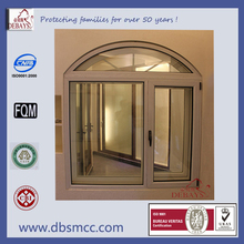 Factory price aluminum thermal break window with double tempered UV glass in Guangzhou of China