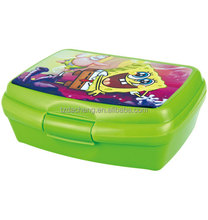 OEM Printing Plastic Lunch Box with Lock