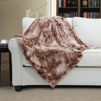 COZY! PV fleece back side flat mink kashmir blanket