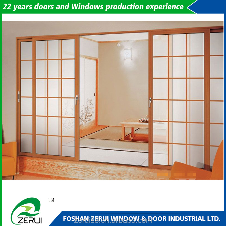 Polycarbonate doors anodized aluminum frame clear glass for Sliding door manufacturers
