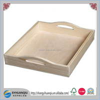 cheap unfinished pine wooden serving tray