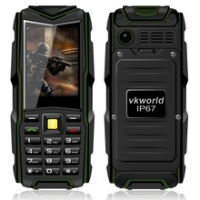 vkworld Stone V3 Feature Waterproof IP68 Cell Phone With 64MB+64MB 2MP Real 3000mAh 2.4 inch 3 sim Cards For Elder