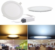 6W 9W 12W 15W 24W Ultra Thin Round Led Panel Light LED Recessed Ceiling Lights for Home, Office, Commercial Lighting