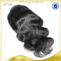 Elastic band brazilian hair glueless full lace wig, remy brazilian human hair short lace wigs for black wome
