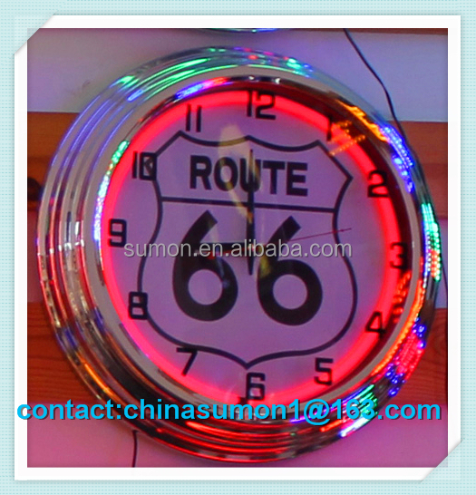double ring neon clock