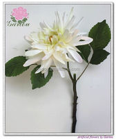 Artificial flowers dahlia pick silk dahlia single stem flowers