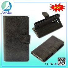 Genuine wholesale wallet flip cover leather case for lg t375