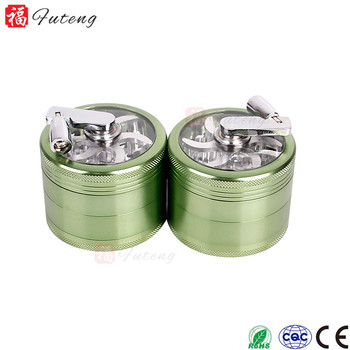 Futeng 63MM 4layers Aluminum Custom Smoke Tobacco Grinder Crusher With Manual Operation