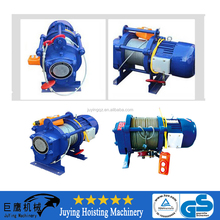 Wire rope lifting double rail electric hoist, winch