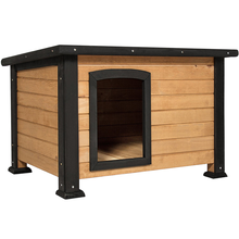 Weather resistant outdoor wooden pet house dog kennel
