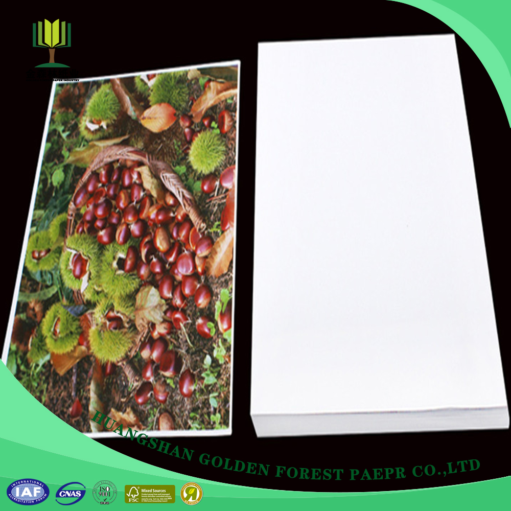 China Manufacturer Gloss c2s two side coated art paper