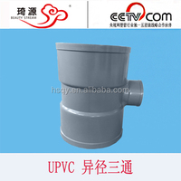 pvc pipe fitting 20-400mm 12 stainless tee sch10