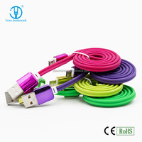Colorful Plating 1M USB Cable Charger High Quality USB 2.0 Cable For All Smart Phones