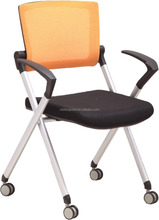 hot sale office and school folding training chair with armrest