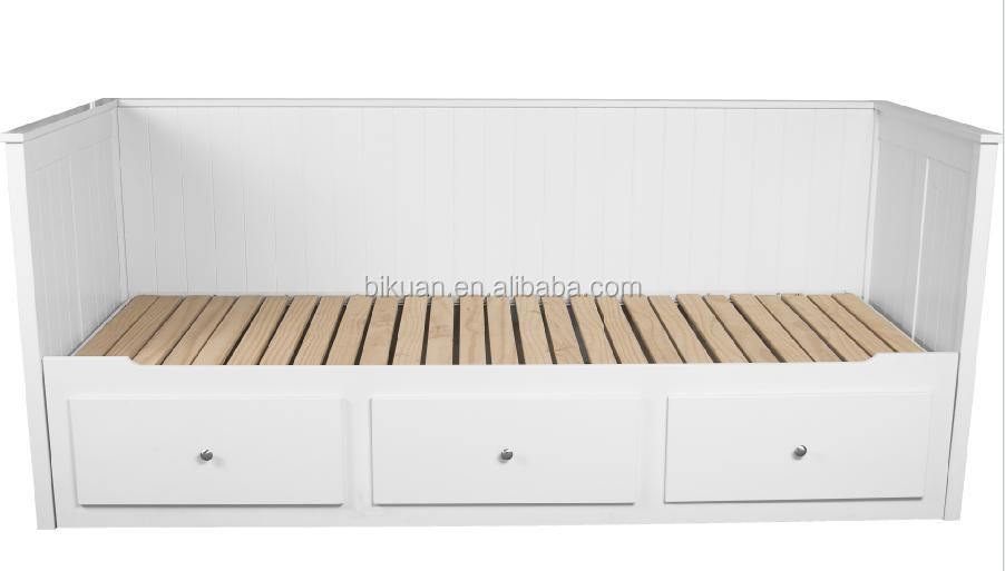 wooden fashion 2 drawers storage sofa bench bed for living room