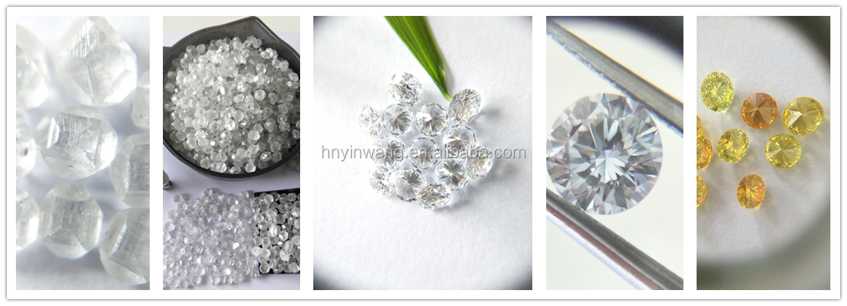 Excellent cut White polished Lab created HPHT / CVD diamonds for jewelry