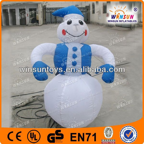 Lovely giant christmas snowman,outdoor inflatable snowman