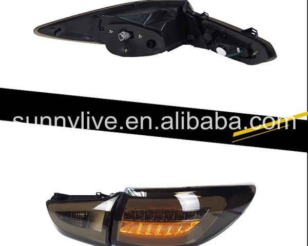 For MAZDA 6 ATENZA LED Tail Lamp 2013-UP year Black Color BW